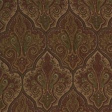 Beige/Burgundy/Red Damask Drapery and Upholstery Fabric by Kravet