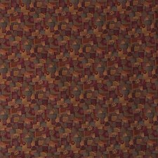 Rust/Yellow/Purple Modern Drapery and Upholstery Fabric by Kravet