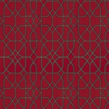 Red Purple Geometric Drapery and Upholstery Fabric by S. Harris