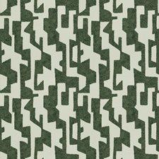 Tourmaline Geometric Drapery and Upholstery Fabric by S. Harris