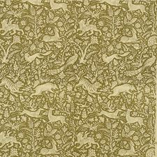 Khaki Olive Drapery and Upholstery Fabric by Schumacher