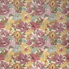 Plum Wine Floral Drapery and Upholstery Fabric by Fabricut