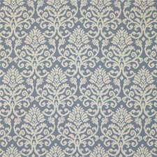 True Blue Damask Drapery and Upholstery Fabric by Kravet