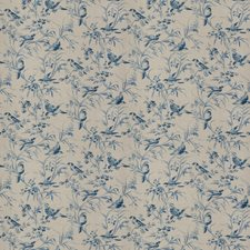 Vintage Bleu Animal Drapery and Upholstery Fabric by Fabricut