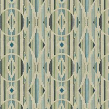 Verde Azulado Embroidery Drapery and Upholstery Fabric by S. Harris
