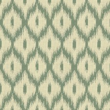 White/Green/Grey Ikat Drapery and Upholstery Fabric by Kravet