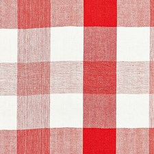Coral CHATHAM STRIPES Drapery and Upholstery Fabric by Scalamandre