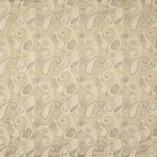 Beige/Brown/White Paisley Drapery and Upholstery Fabric by Kravet