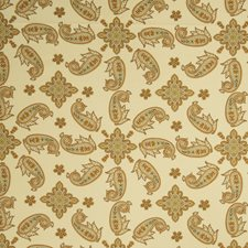 Persimmon Paisley Drapery and Upholstery Fabric by Fabricut