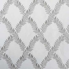 Platinum Embroidery Drapery and Upholstery Fabric by Highland Court