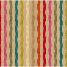 Beige/Blue/Orange Stripes Drapery and Upholstery Fabric by Kravet