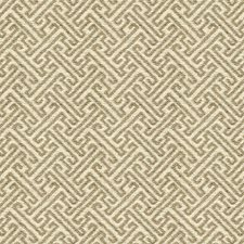 White/Beige Asian Drapery and Upholstery Fabric by Kravet