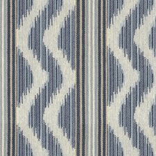 Indigo Ikat Drapery and Upholstery Fabric by Kravet
