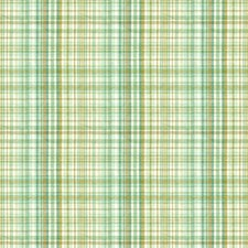 Teal/Taupe/White Plaid Drapery and Upholstery Fabric by Kravet