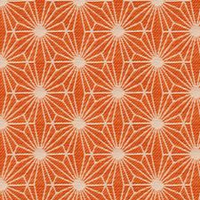 Orange/White Small Scales Drapery and Upholstery Fabric by Kravet