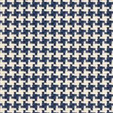 White/Blue Check Drapery and Upholstery Fabric by Kravet