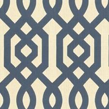 White/Beige/Blue Modern Drapery and Upholstery Fabric by Kravet
