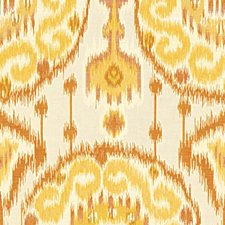 Beige/Yellow/Orange Ethnic Drapery and Upholstery Fabric by Kravet