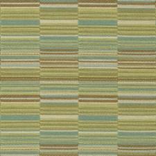 Light Green/Light Blue/Brown Stripes Drapery and Upholstery Fabric by Kravet