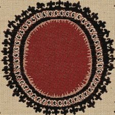 Black/Beige/Burgundy Contemporary Drapery and Upholstery Fabric by Kravet