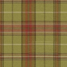 Green/Beige Plaid Drapery and Upholstery Fabric by Kravet