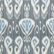 Cobalt Ikat Drapery and Upholstery Fabric by Kravet