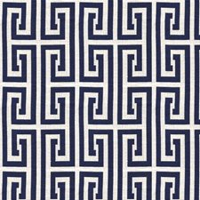 Ultramarine Geometric Drapery and Upholstery Fabric by Kravet