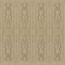 Wheat Paisley Drapery and Upholstery Fabric by Kravet