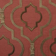 Spice Embroidery Drapery and Upholstery Fabric by Duralee