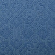 French Blue Floral Small Drapery and Upholstery Fabric by Duralee