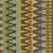 Beige/Blue/Green Ikat Drapery and Upholstery Fabric by Kravet