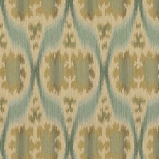 Blue/Green/White Ikat Drapery and Upholstery Fabric by Kravet