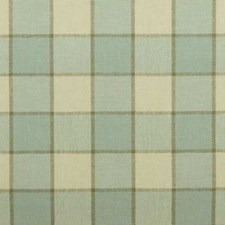 Natural/Aqua Plaid Drapery and Upholstery Fabric by Duralee