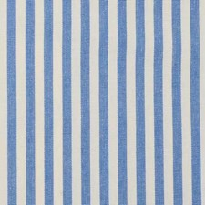 French Blue Stripe Drapery and Upholstery Fabric by Duralee