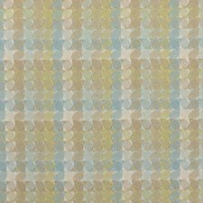 Blue/Green Geometric Drapery and Upholstery Fabric by Duralee