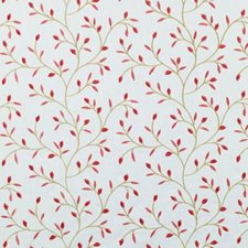 Papaya/Sage Embroidery Drapery and Upholstery Fabric by Duralee