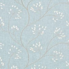 Chambray Embroidery Drapery and Upholstery Fabric by Duralee
