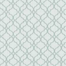 Aqua Embroidery Drapery and Upholstery Fabric by Duralee