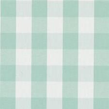 Aqua Plaid Drapery and Upholstery Fabric by Duralee