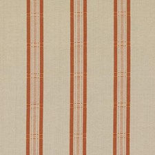 Natural/Red Stripe Drapery and Upholstery Fabric by Duralee