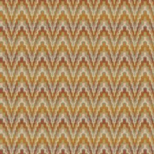 White/Sage/Orange Bargellos Drapery and Upholstery Fabric by Kravet