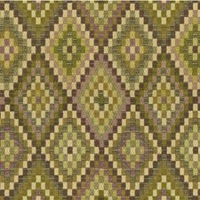 Purple/Light Green/Beige Diamond Drapery and Upholstery Fabric by Kravet