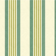 Light Blue/Green/Ivory Stripes Drapery and Upholstery Fabric by Kravet