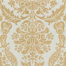 White Gold Damask Drapery and Upholstery Fabric by Kravet