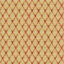 Beige/Rust/Green Diamond Drapery and Upholstery Fabric by Kravet