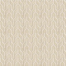 Ivory Geometric Drapery and Upholstery Fabric by Kravet