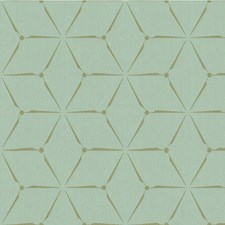 Crystal Blue Geometric Drapery and Upholstery Fabric by Kravet