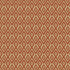 Persimmon Diamond Drapery and Upholstery Fabric by Kravet