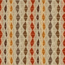 Taupe/Rust/Beige Diamond Drapery and Upholstery Fabric by Kravet