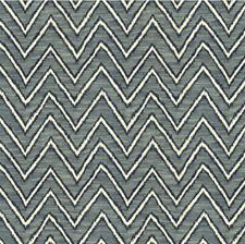 Indigo Flamestitch Drapery and Upholstery Fabric by Kravet